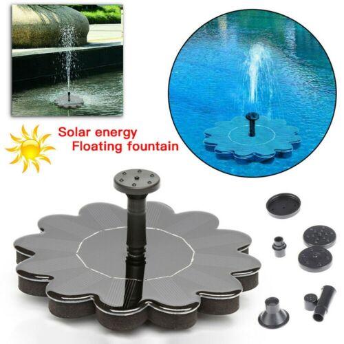SolarPumpe Teichpumpe Solar Springbrunnen Wasserspiel Fontäne Garten Zierbrunnen
