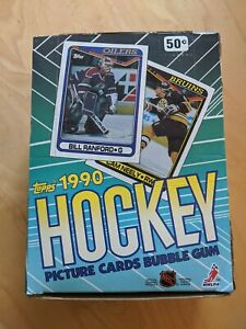 Topps-1990-NHL-Hockey-Bubble-Gum-Picture-Cards-Box-36-Packs-Of-14-Cards