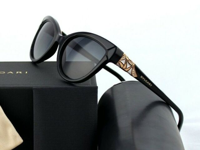 4ebf0b42459bd  700 POLARIZED Genuine BVLGARI DIVAS DREAM Cat-Eye Sunglasses BV 8156B 501  T3