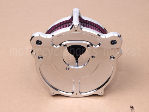 Chrome Air Cleaner Intake Filter RSD Fit For Harley Softail Touring Dyna Fatboy