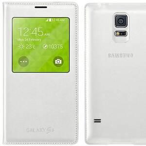 Custodia-originale-Samsung-p-Galaxy-S5-SV-SM-G900F-neo-G903F-S-View-cover-Bianca