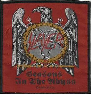 SLAYER-seasons-in-the-abyss-2004-WOVEN-SEW-ON-PATCH-official-black-border