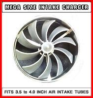 Jaguar V8 V12 Large Air Intake Supercharger Fan Kit For 3.5 - 4 Inch Intakes