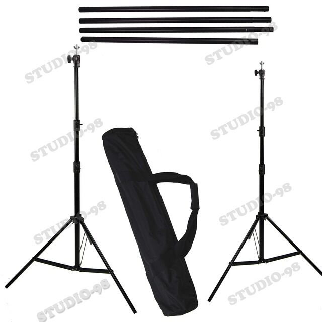 Pro Photo 10' W x 8.5' FT H Background Stand with Bag for Backdrop Muslin Paper