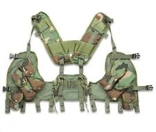 US MILITARY GI TACTICAL LOAD BEARING VEST (ENHANCED) - LBV Woodland Camo