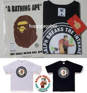 S-2XL-A-BATHING-APE-Men-039-s-BAPE-x-Ralph-Breaks-the-Internet-TEE-2-2colors-New
