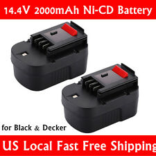 New Extended 2000mAh 14.4V NiCD Battery Replace for Black & Decker HPB14 (2pack)