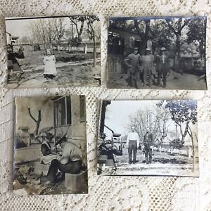 Antique Photo Lot Men Franklin Brothers Family Homestead 1900s Durham California