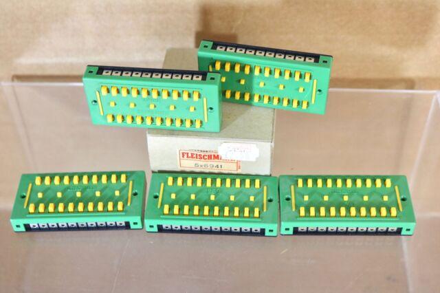 FLEISCHMANN 6941 SET of 5 POWER DISTRIBUTOR BLOCKS for TRACK LAYOUT BOXED nn