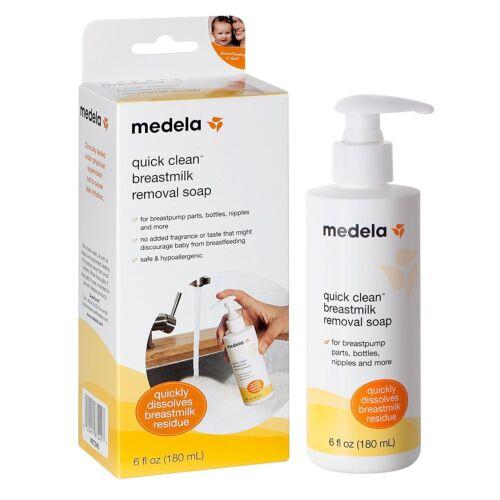 Medela Quick Clean Breastmilk Removal Soap 6oz Bottle  87240 Dissolves Residue