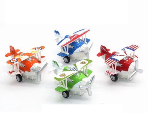 1:72 Alloy Glider Model Toy Light&Sound Carton Plane Airplane Diecast Pull Back