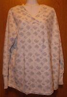 Womens Ivory Northcrest Perfect Tunic Long Sleeve Hooded Shirt Size Medium