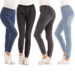 Women-039-s-Skinny-Elastic-High-Waist-Denim-Jeans-Stretchy-Jeggings-Trousers-Pants