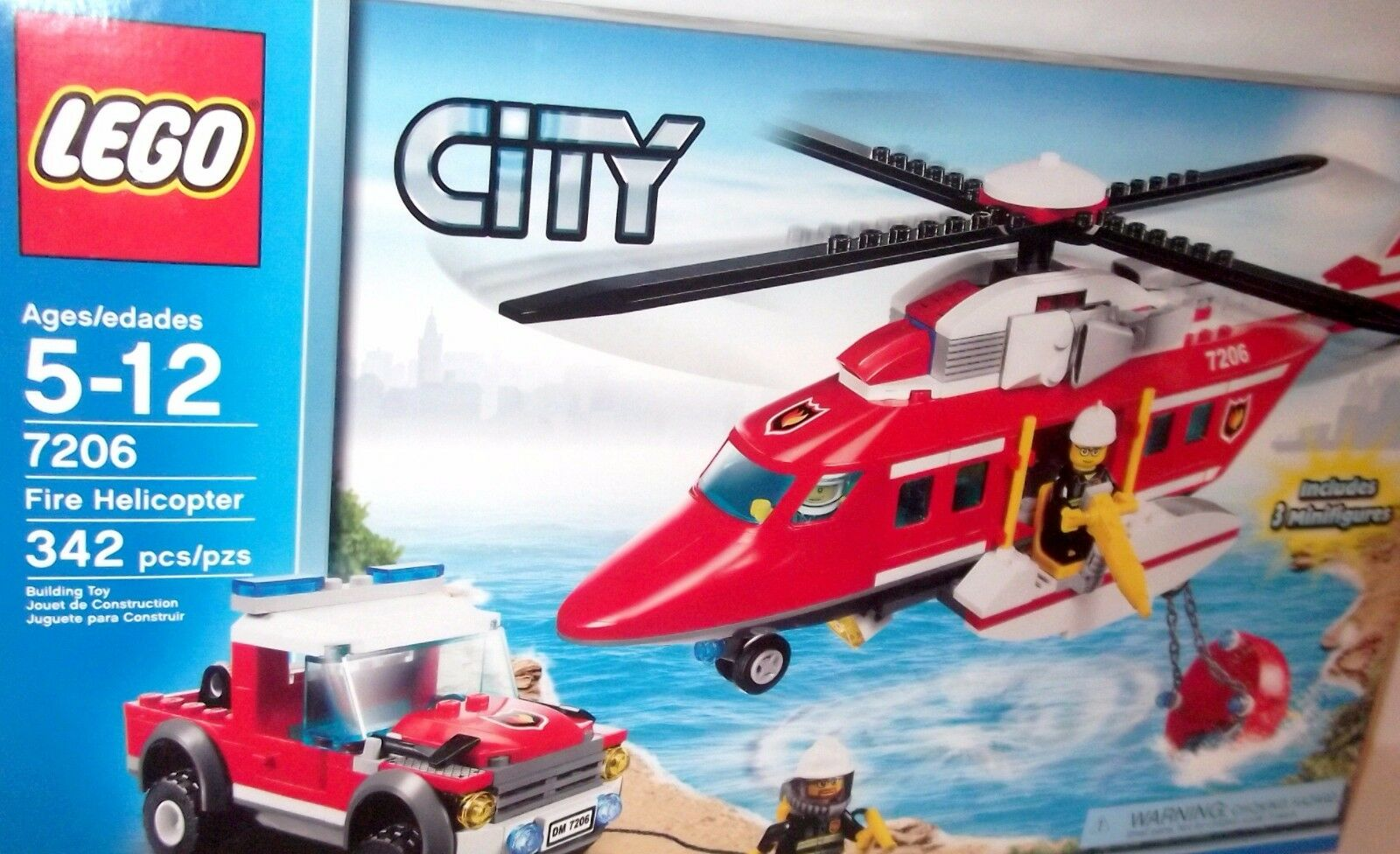 LEGO CITY ✰ FIRE HELICOPTER ✰  7206 FACTORY SEALED  MINT  RETIROT