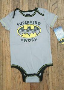 Infant Boys 18M Batman Super Hero At Work Bodysuit/One-Piece~