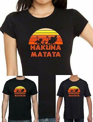 Ladies, mens and Childrens Lion King Hakuna Matata Simba Timon + Pumba T shirt | eBay