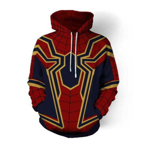 Avengers Infinity War Iron Spiderman Hoodies Jacket Men Sweater Cosplay Costume