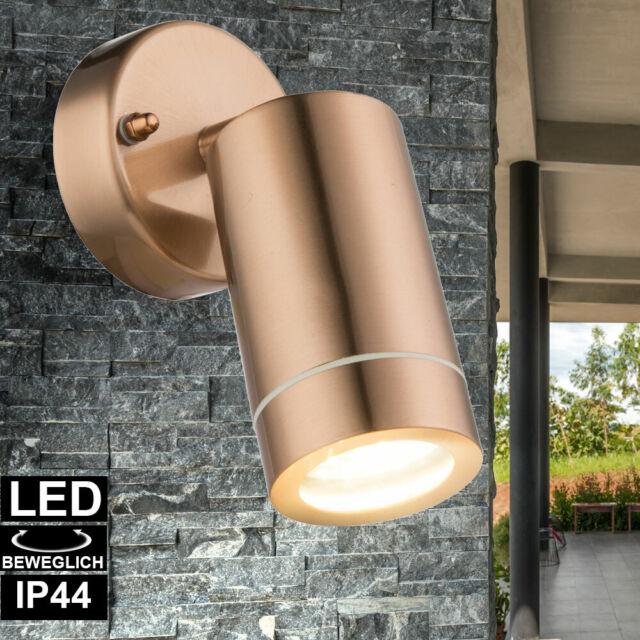 LED Außen Bereich Wand Lampe DOWN Strahler Terrassen Garten Leuchte schwenkbar