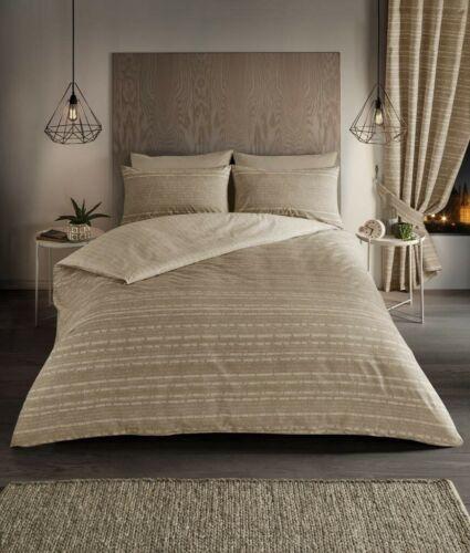 All Sizes Luxury Seb Stripe Duvet Cover Bedding Set with Pillow Cases
