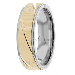 14K-SOLID-GOLD-MENS-WOMENS-WEDDING-BANDS-RINGS-HIS-amp-HERS-MATCHING-RING-BAND-SET
