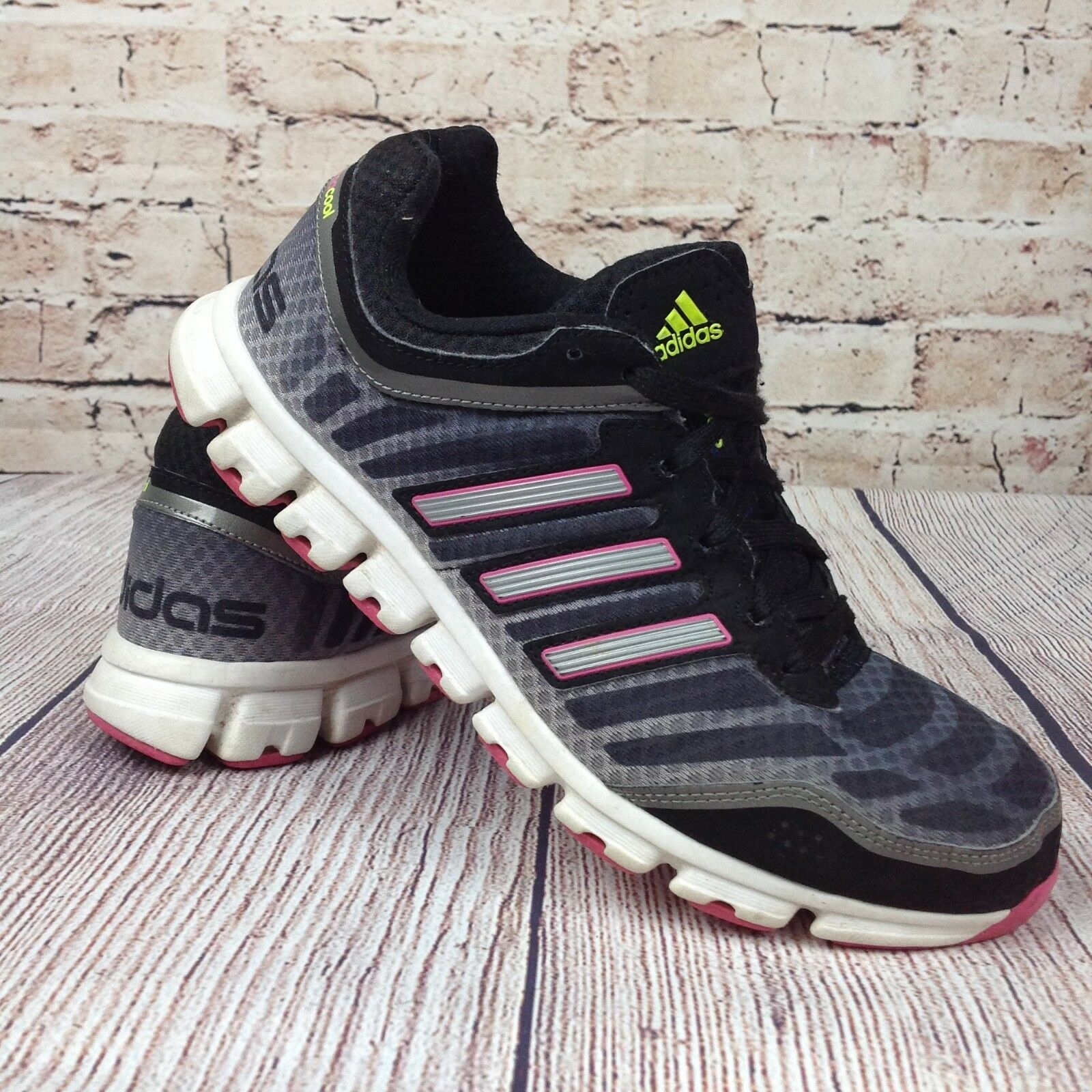 ADIDAS Climacool Aerate 2.0 Damen Sneakers Größe 8.5 Schwarz Pink Metallic-Schuhe