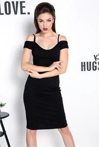 hot sale online 969be 55994 Dettagli su vestitino abito donna tubino nero scollato moda sera party  sensuale 3187