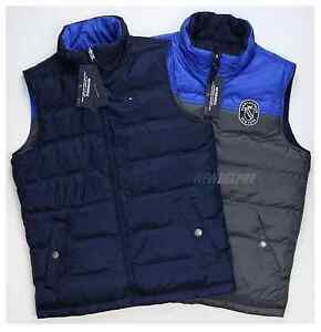 NWT Tommy Hilfiger Men Reversible Vest Navy/Red, Navy/Gray XS ...