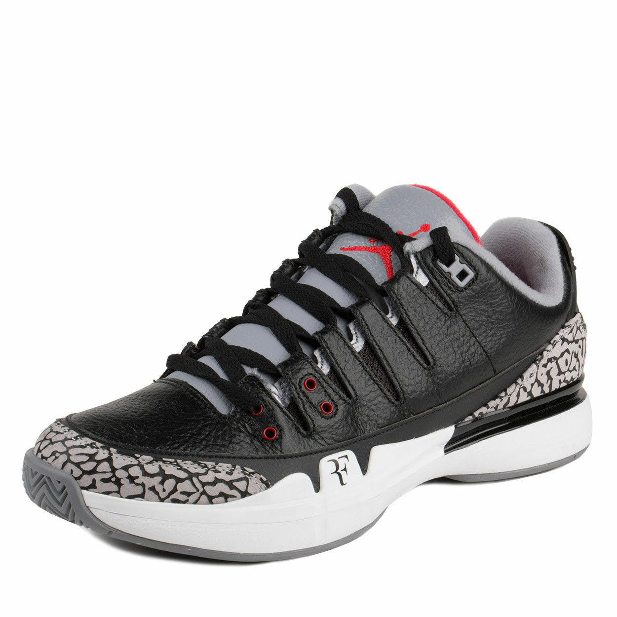 Nike Mens Zoom Vapor AJ3 Air Jordan Black White-Cement Grey 709998-010 Sz 8