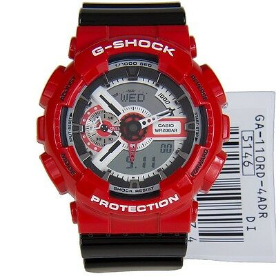 CASIO G-SHOCK MENS WATCH GA-110RD-4A FREE EXPRESS RED / BLACK GA-110RD-4ADR