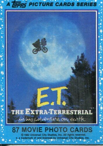The Extra Terrestrial Complete 87 Card Base Set E.T