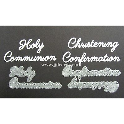 Blessing Baptism Holy Communion Cardmaking Britannia Dies