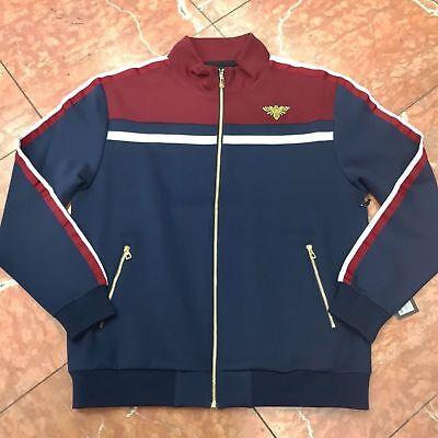 Men/'s Makobi NavyBurgundy High Quality Sweatsuit