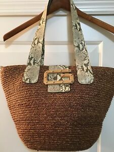 b9dcb3ce1ccd SALE GUESS Woven Tote Bag Purse