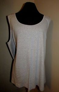 d79c48cca55 new Faded Glory gray layering tank top 5X 30W-32W plus size casual ...