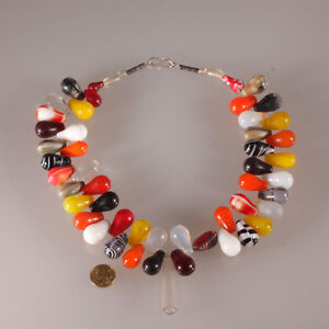 7348-Old-Trade-beads-glass-Bohemian-Wedding-Bergkristall-Tuareg