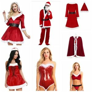 5d0e5817830a0 Sexy Women Mens Christmas Santa Claus Holiday Party Cosplay Costumes ...