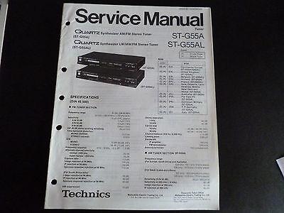 2019 Mode Original Service Manual Technics Tuner St-g55a St-g55al
