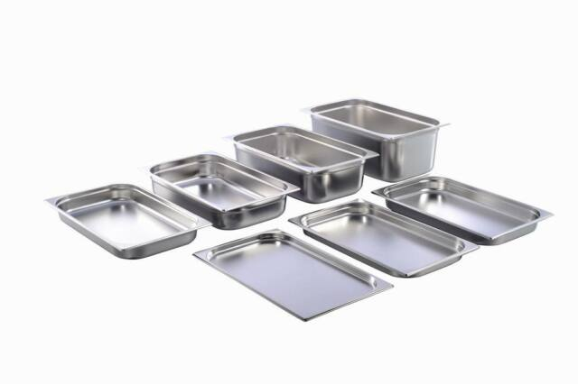 GN Behälter Gastronorm 1/1 Edelstahl 20 mm - 200 mm Tiefe