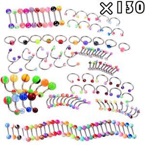 LongBeauty-130-PCS-Body-Piercing-Lot-Belly-Ring-14G-16G-RANDOM-Mix-Jewelry