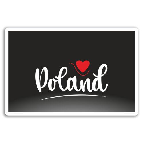 2 X 10cm Polonia Pegatinas De Vinilo-Varsovia Pegatina de viaje de la UE #17356 Para Laptop Equipaje