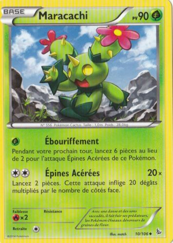 Carte Pokemon Neuve Française Maracachi XY2:Etincelles 10//106