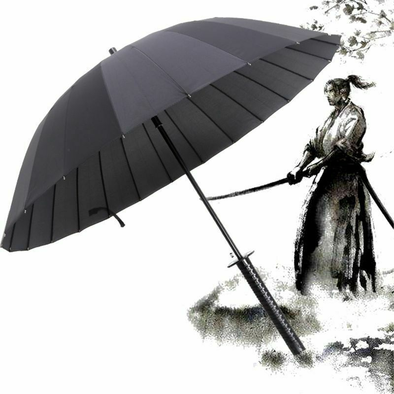 Katana Umbrella Sunny Rainny Long-handle Umbrellas Japanese Samurai Ninja Sword