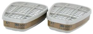 4-Pairs-3M-6051-A1-Organic-Gas-Vapour-amp-Particulate-Filters-6000-Series
