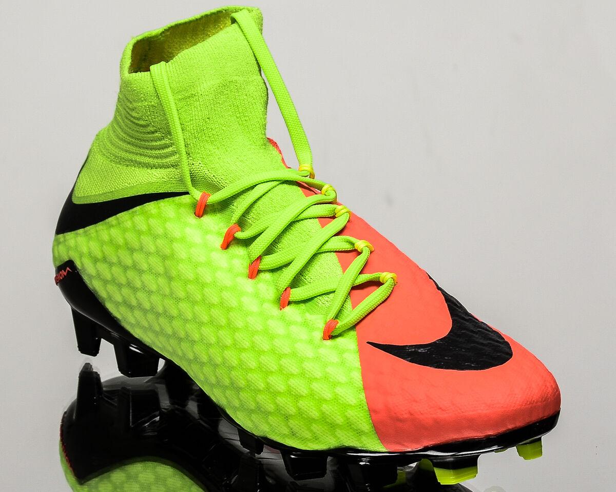 Nike Hypervenom Phatal III DF FG 3 men soccer cleats football green 852554-308