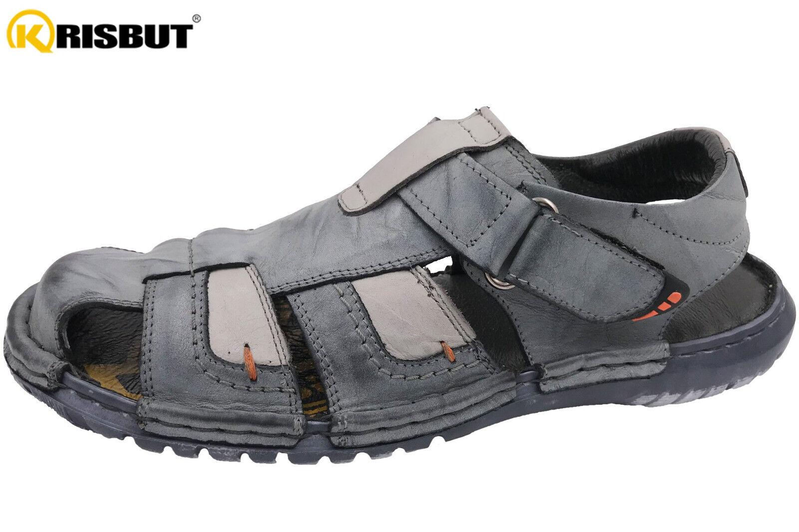 Krisbut Herren Sandale Blau Kombi Echtleder Sommer Schuhe NEU 1098-6