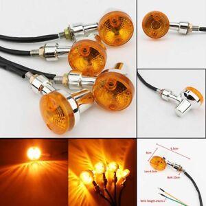 4X Motorcycle Turn Signals Lights For Suzuki Intruder Volusia VS VL 700 750 800