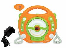 Kinder CD Player MP3 Player USB Port + Netzteil 2 Karaoke Mikrophone 227409