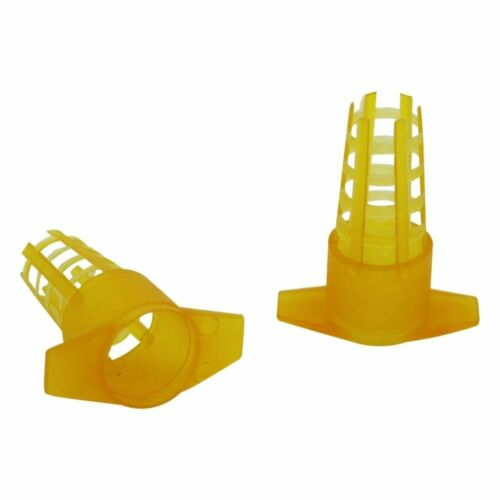 Beekeeping Protector Cages Tools Bee Queen Yellow Plastic Cover Cell 30 Pcs