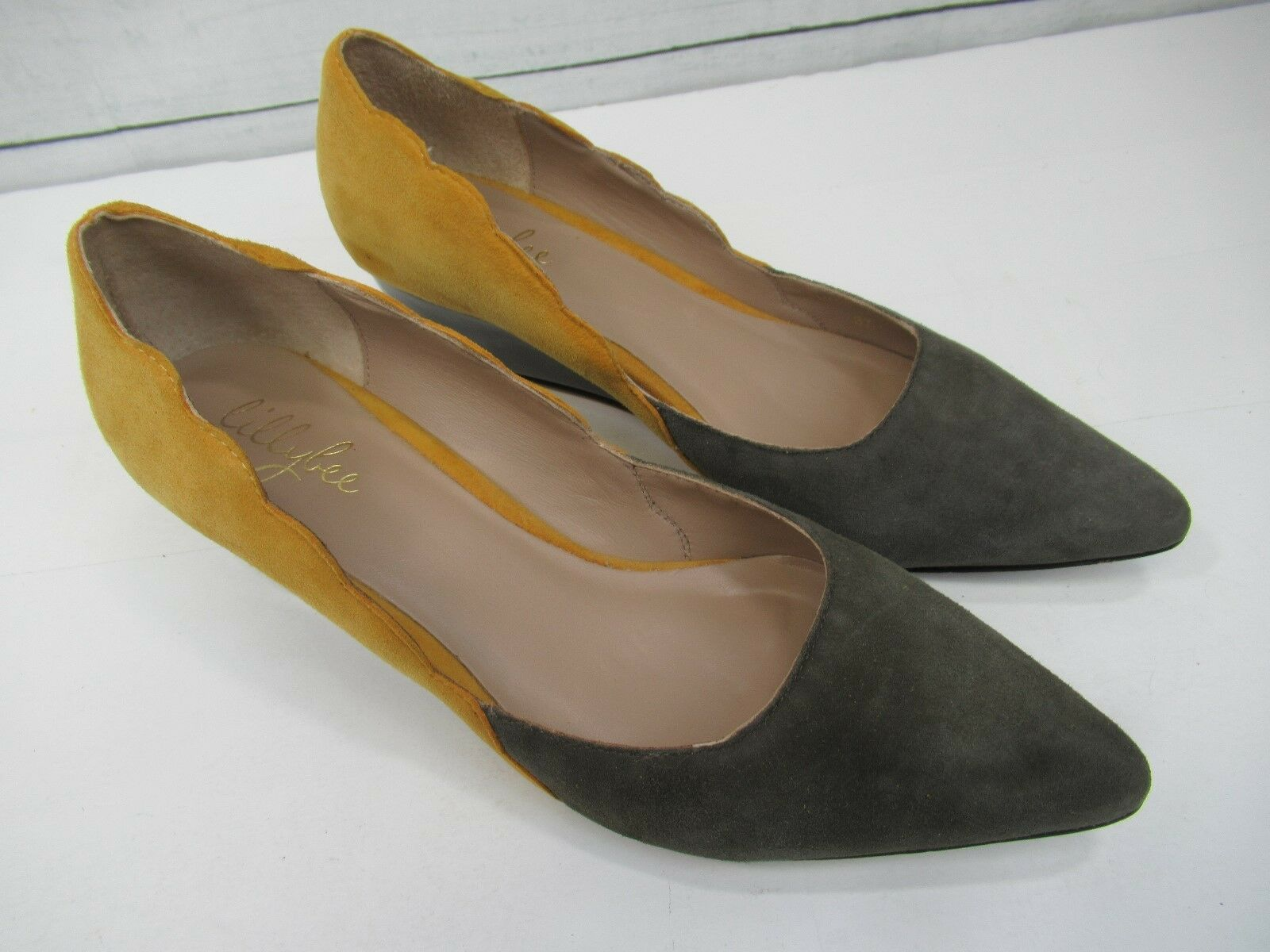 Lillybee Gillian in Two Tone Suede Wedge shoes Made In Brazil Size 7