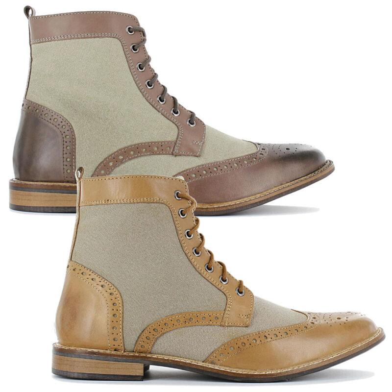 19v69 Italia Herren Stiefeletten Business Stiefel Schuhe Boots Leder-textil Neu